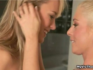 This Two Hot Lesbian Blond Babes Get
