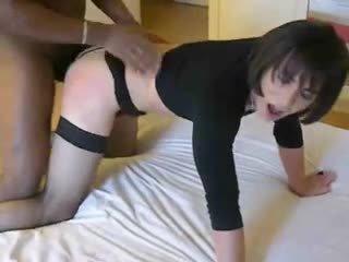 crossdresser, anal, interracial