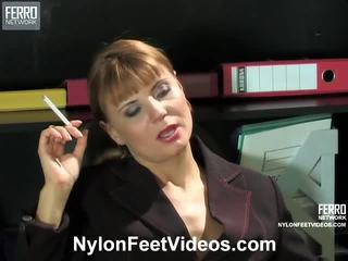 fetiș picior, stocarea sex, nylons feet