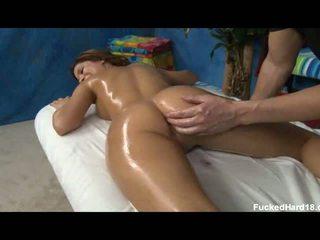 fingering, massage, oiled