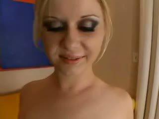 Aaralyn barra - blonde est practicing pour la creampie olinpic