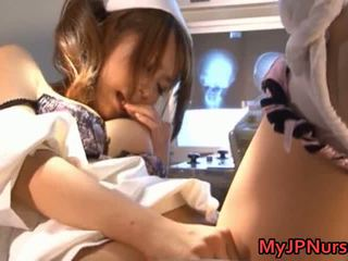 Akina Lovely Asian Nurse Expand Her Twat