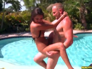 Young Erin Stone gets banged by the pool
