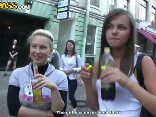 Sensuous drunken sweeties expose their tushes and süýji emjekler at the weçerinka