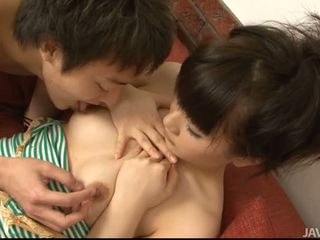 Asian chick loves to get jizz in her magic mouth