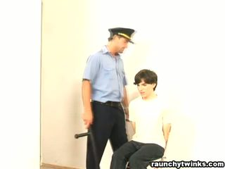 Naughty b-y Arrested And Fucked