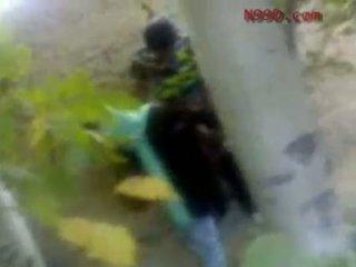 Arab iranian vajzë fucked në the bythë në the woods