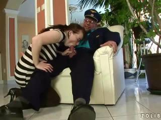 Grandpa fucking and pissing on naughty girl
