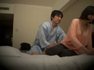 Subtitled Japanese hotel massage oral ...