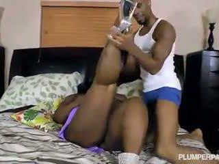 Ebony BBW Mz Milky Diva Loves Big Black Cock