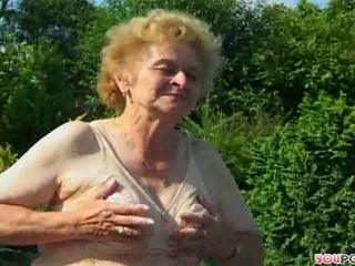 older, granny, outdoor