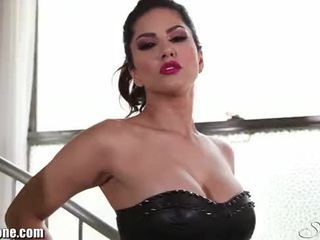 Sunnyleone's after pagtitipon striptease here!