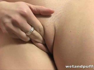 närbild, orgasm, klitoris