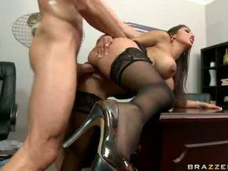 gros seins, bureau, sexe de bureau