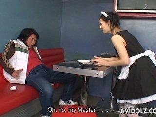 Maria ozawa 성욕을 자극하는 kiss 에 valet 제복