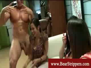 Cfnm celebration with bears strippers