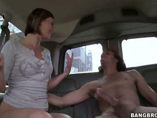 Szexi szőke vixen nailed -ban a bang busz