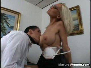 milf sex, volwassen, aged lady