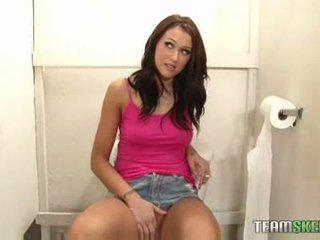 brunetka idealny, zabawa student sprawdzać, świeży bigtits zabawa