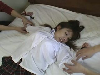 Asian Schoolgirl Gets Tied Up