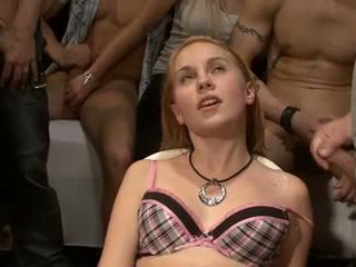 Cute Blonde Teen Bukakke Video