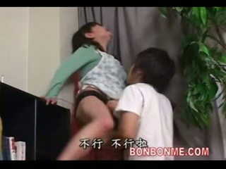 Mother fucked by son behind father
