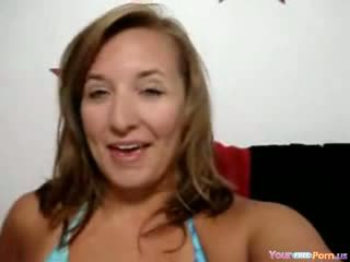 Busty amateur shoots herself in the sh...