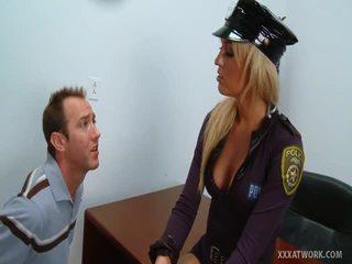 Dissolute Blonde Cop Has Porn Traffic Violator