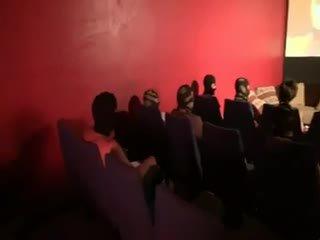 brünette, gruppen-sex, französisch