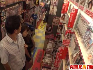 japanese, offentlig sex, blowjob