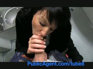 PublicAgent Penelope fucks on the trai...