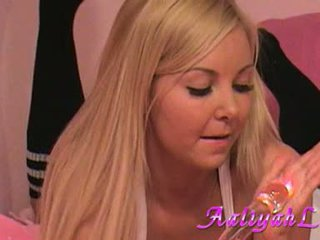 Aaliyah Love Lusty Babe Play Her Dildo On Daybed