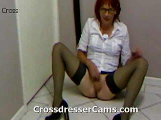 crossdresser, ass, påklädning