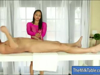 Malaking suso masseuse adrianna luna blowjobs under ang table