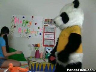 Panda gets তরুণ বালিকা তরুণী