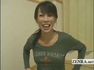 Subtitled pieauguša female japānieši bodybuilder stripping