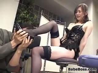 japanse, voet fetish, vingerzetting