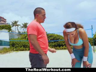 Therealworkout - berpayu dara besar babe fucked oleh trainer