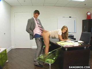 Heiß sekretärin bent über