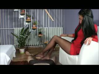 Goddess amy jalkatyöpaikka - bootjob - kenkätyöpaikka