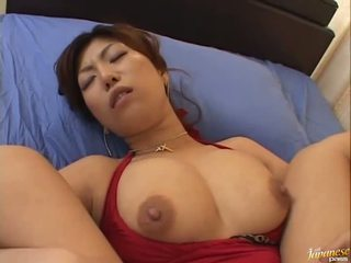 Big boobed asian Naho Hazuki gets her cunt licking