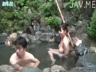 brunette, reality, japanese, cumshot, ass, outdoor
