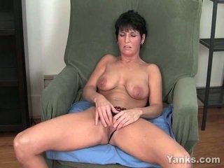 brunette, masturbating, huge tits
