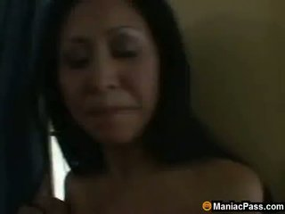 Asian mom seduces hot gardener