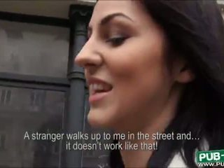 Beautiful amateur Euro slut Meg Magic drilled for money