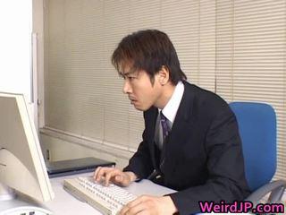 Söpö aasialaiset sihteeri porattu