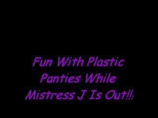 Diversão em plástico cuecas