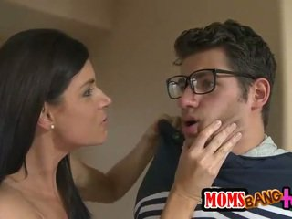MILF stepmom takes control over teens