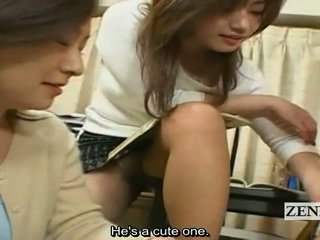 Subtitles 日本 熟女 cougars 服を着た女性裸の男性 harem