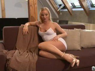 Sylvia Saint Fondles Her Delightful Titties Making Everyone Dream Of It